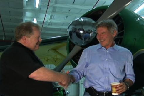 Here are some photos from RJ's interview with Harrison Ford.
